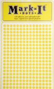 Map Dot Stickers - Yellow -  .  cm Diameter