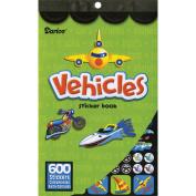 Darice Sticker Book - Vehicles Designs & Traffic signs, 600 Stickers