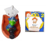 KERMIT the Frog Tub Toy McDonalds Happy Meal #2 - 1995 Muppets Treasure Island Henson