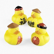 12 Chinese Rubber Duckies - Novelty Toys & Rubber Duckies