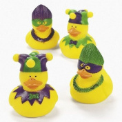 Vinyl Mardi Gras Rubber Duckies - Party and Events