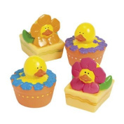 Spring Flowers Rubber Duckies - Novelty Toys & Rubber Duckies