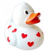 Rubber Duckie - Love / Hearts Duck (Size