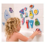 Yo Gabba Gabba Bath Buddies + Free Pack Of Yo Gabba Gabba Kids Silly Bandz!!!