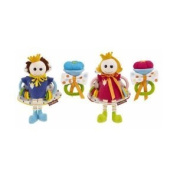 Yookidoo Friendly Faces Royal Rattle Set