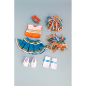 Cheerleader - 6 piece cheerleader outfit includes blouse, skirt, headband, pompons, socks and shoes. Fits 46cm American Girl dolls.