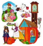 Nursery Rhymes 1 felt figures for flannel boards-4 rhymes Jacks Jill, 3 Blind Mice, Hickory Dickory, Peter Pumpkin Eater