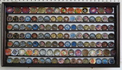 Collectible/Challenge Coin Display Case Wall Cabinet Shadow Box, with Mirror Background, COIN4M-MA