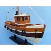 Knot Working 41cm  - Decorative Fishing Boats - Model Ship Wood Replica - Not a Model Kit