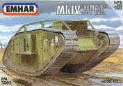 "Emhar WW1 British Mk.IV ""Female"" Tank - 1:72 Plastic Model Kit"