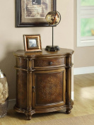 Monarch Specialties I 3825 Light Brown Traditional One Drawer Bombay Cabinet