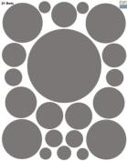 Polka Dot Decals- Grey Peel & Stick Wall Appliques'