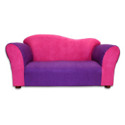 Fantasy Furniture Wave Sofa - Pink and Purple