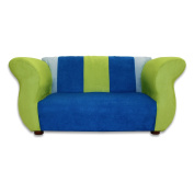 Fantasy Furniture Fancy Sofa - Blue and Green