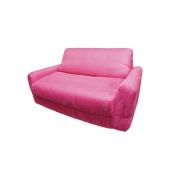 Fun Furnishings Micro Suede Sofa Sleeper in Fuchsia