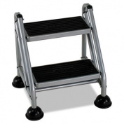 Cosco 11-824GGB1 Two Step Rolling and Folding Step Ladder Grey