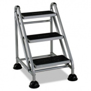 Cosco 11-834GGB1 Three Step Rolling and Folding Step Ladder Grey