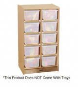 10 Tray Mobile Storage Without Trays