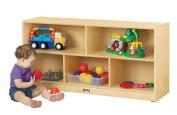 Jonti-Craft Baltic Birch Toddler Single Mobile Storage Unit