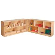 60cm Maple Folding Storage Unit