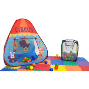 Clearance Animal Circus EZ Twist Play Tent House