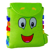 "BUCKLE TOY ""Buddy"" Backpack – Toddler Early Learning Basic Life Skills Children's Plush Travel Activity"