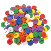Crystal Springs Books Place Value Discs (3-6) 140 Discs. 20 for Each of 7 Values, Singapore Math