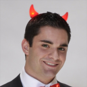Red Light Up Devil Horns and Special Gift with Purchase- Exclusive FlashingBlinkyLights Light Up Pin