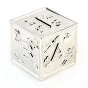 Knight-Silver Plated Abc Cubed Money Box [Baby Product]