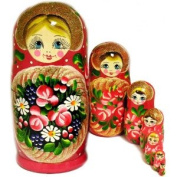 Russian Matreyshka Matreshka Matryoshka Matrushka Babushka Floral Nesting Doll 7 Nested Hand Carved Hand Painted Nesting Doll 23cm New!