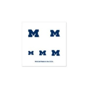 Michigan Wolverines Official NCAA 2.5cm x 2.5cm Fingernail Tattoo Set by Wincraft