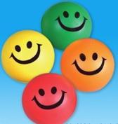 12 Smile stress squeeze balls - assorted colour 6.4cm
