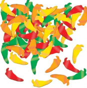 Beistle Fanci-Fetti Chilli Peppers (GD/G/O/R) Party Accessory (1 count)