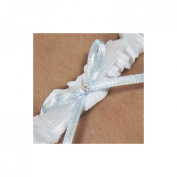 Cathys Concepts 3054W Embroidered I Do Wedding Garter in White