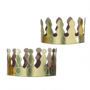 Beistle 66049 - Gold Foil Crowns - Pack of 72