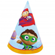 Party Destination Super Why! Cone Hats