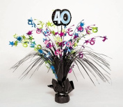 Amscan BB103440 The Party Continues 40Th Birthday Spray Centrepiece