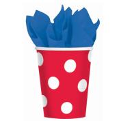 Amscan Red Polka Dot 270ml Paper Cups