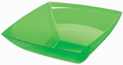 Green Small Plastic Square Bowl Party Accessory