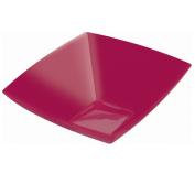 Amscan Raspberry 1890ml Premium Plastic Square Bowl