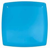Blue Plastic Square Tray Party Accessory