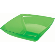 Green Large Plastic Square Bowl Party Accessory