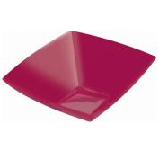 Amscan Raspberry 3790ml Premium Plastic Square Bowl