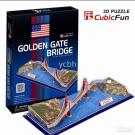CubicFun 3D Jigsaw - Golden Gate Bridge