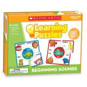 Scholastic Teacher's Friend Beginning Sounds Learning Puzzles, Multiple Colours