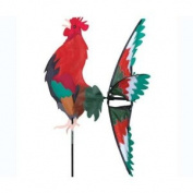 Morning Rooster Spinner - Great Garden Display, Red & Green