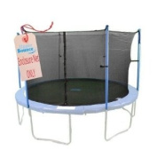 Upper Bounce Trampoline Enclosure Safety Net for Round Frame Trampolines, Poles Sold Separately