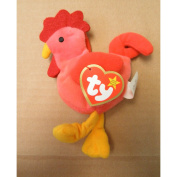 TY Teenie Beanie Babies Strut the Rooster Stuffed Animal Plush Toy - 10cm tall