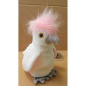 TY Beanie Babies KuKu Cockatoo Bird Stuffed Animal Plush Toy - 15cm tall - White and Pink