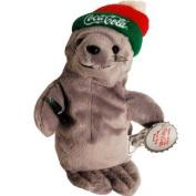 #0114 Coca-Cola Seal in Knit Ski Cap - Coke Bean Bag Plush